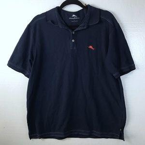 Tommy Bahama Sz Large Blue Casual Logo Polo Shirt